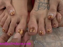 Crazy Druggie Whore gets feet fucked and cum on feet Thumb