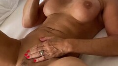 Marina Beaulieu, 59 years old, playing with toy dick Thumb