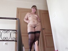beautiful bbw, fucking with rubber hand fisting Thumb