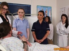 CFNM nurses cocksucking patient in group Thumb