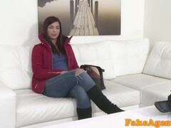 FakeAgent Hot red haired babe fucked hard on casting couch Thumb