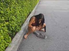 Sexy drunk amateur - public pissing, blowjob, flashing in West Palm Florida Thumb