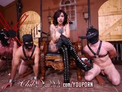ClubDom Goddess Gets Off Then Ass Fucks Her Slaves Thumb