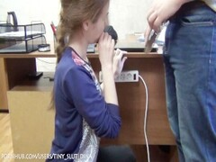 Russian amateur schoolgirl facefuck! Fuck her teeny mouth! Thumb