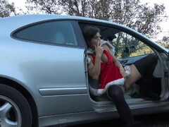 Hot Teen Love Creampie & Squirt On Public Parking by Vic Alouqua Thumb