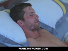 FamilyStrokes - Blonde Milf Fucks Step-Son In Shower Thumb