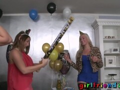 Girlfriends Lez girls lick in new year part 1 Thumb