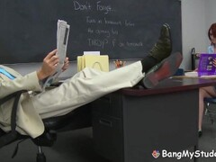 Bad Girl Alana Rains Spanked & Fucked By School Professor Thumb