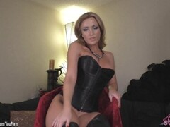 Angela Sommers strip tease and finger fucking Thumb
