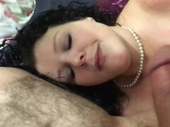 Cum on slut girlfriends face while talking about new cocks Thumb