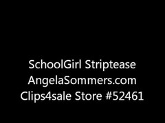 Angela Sommers schoolgirl strip tease at home Thumb